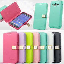 AiLun Magnetic Wallet Flip Leather Cover Case For Samsung Galaxy Core 2 G355H