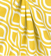 Modern Yellow and White Fabric Geometric Fabric by the Yard Upholstery
