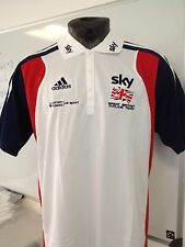 Reduced Bargain Great Britain Cycling Team Issue Adidas Team Sky Poly Polos