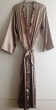 LADIES EX STORE SATIN DRESSING GOWN/ROBE UK SIZES 8 &14