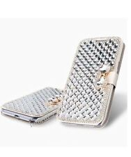 Bling diamond leather cover card case for iPhone 5s,Samsung S3,S3 mini,S4
