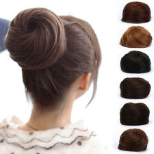 Stylish Pony Tail Women Clip in/on Hair Bun Hairpiece Hair Extension Scrunchie