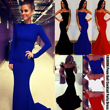 Women's Bodycon Trumpet Long MAXI MERMAID Backless Evening Formal Cocktail Dress