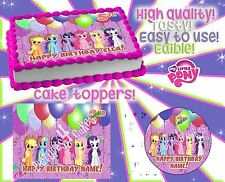 #2 My little pony Birthday cake toppers Edible picture decorations party sugar
