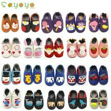 Sayoyo Soft Sole Leather Shoes Slipper Baby Boy Girl Kid Infant Toddler 0-36MTHS