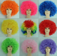 Wonky Unisex Party Clown Football Supporter Fans Costume Party Afro Full Wig