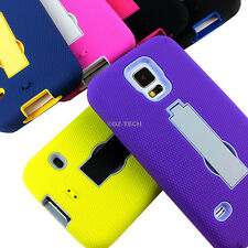 For Samsung Galaxy S5 Sport G860P Rugged Impact Hybrid Hard Case Cover Kickstand