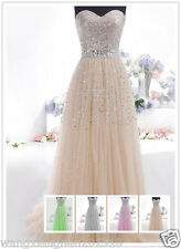 Stock Sequins Long Prom Dress Evening Cocktail Dress Wedding Bridesmaid Gown