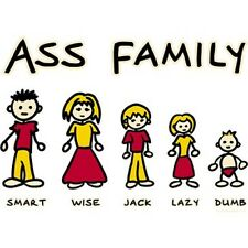 Funny Ass Family Smart, Wise, Jack,Lazy, & Dumb T-Shirt All Sizes & Colors