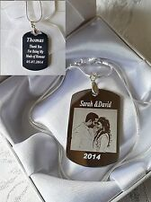 Personalised Gift Millitary Dog Tag Engraved Picture Message Christmas Gift