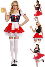 Sexy German Beer Girl Halloween Costume Bar Maid Oktoberfest Fancy Dress M-3XL
