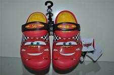 Crocs Kids Disney Cars Lightning McQueen Clogs Slip On Shoes Red w/Fur Inside