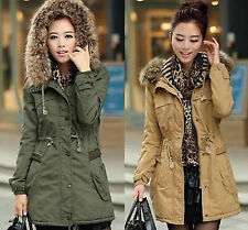 2014 HOT Brand new Lady Women Warm Winter Hooded Parka Overcoat Long Jacket Coat