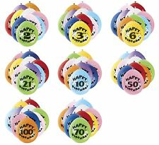 "50 x 9"" Air Fill Only Balloons Assorted Colour Various Ages Birthday Party"