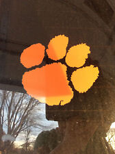 """Tiger Paw - Clemson Tigers - 12"""" Decal - Perfect for Cornhole Boards"""