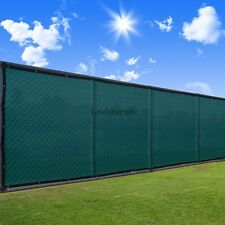 Green Black 4'/6'x50' Fence Windscreen Privacy Screen Shade Cover Mesh Fabric