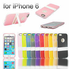 Hybrid Soft Silicone TPU w/ PC Stand Skin Case For New Apple iPhone 6 4.7 inch