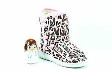 BRIGHT BRAND GIRLS YOUTH PINK CAMMO SOFT FUR LINED BOOTS