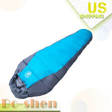 Mummy Sleeping Bag Double thick Winter 0-10 Degree Camping Outdoor 210T Travel