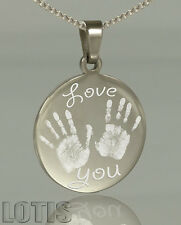 Photo Engraved Pendant - Have your photo and text permanently engraved