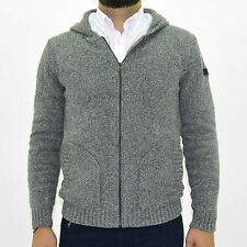 uk 4953 Cardigan sweater zip men MARLBORO CLASSICS MCS jumper pocket man gray