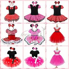 Halloween MINNIE MOUSE Costume Dress Up + Ears Toddler Girls Xmas Birthday Gift