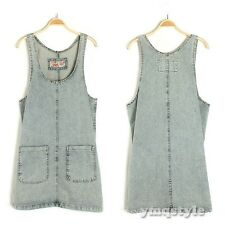 Women Cute Strap Two Pocket Washed Denim Jumpsuit Casual Playsuit Overall Dress