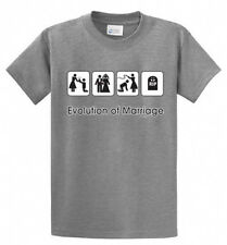 Evolution of Marriage Printed Tee Shirt in Men's Big and Tall Sizes and Regular