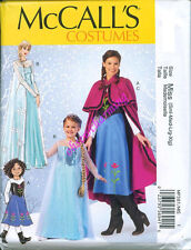 McCalls 7000 GIRLS 3-8 Anna Elsa Disney Princess Costume Sewing Pattern Frozen