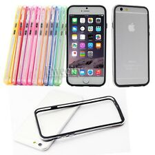 11PCS Colors Clear Frame Hard Rubber TPU Bumper Case For Apple iPhone 6 7 8/Plus