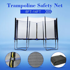 8 10 12 14 FT Trampoline Safety Net Replacement Enclosure 6 8 Poles AU Local