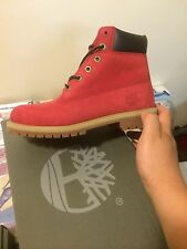 "Timberland 6"" Boots 'Ruby Red' Villa Constructs 6598R GS PS TD Kids Sz:5C-7Y BBC"