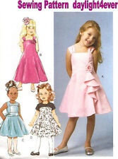 Formal Flower Girl Toddler Dress Sewing Pattern 5980 Butterick NEW 3-8