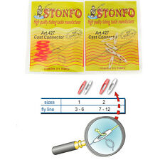 STONFO Cast Connectors Fly Line to Leader Cast, natural and fluo-orange (6pcs.)