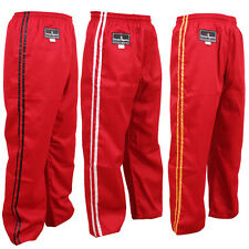 TurnerMAX Martial arts Karate kung fu kick Boxing Training pant Red MMA Exercise