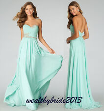 Strapless Long Bridesmaid Dresses Formal Eveing Dress Prom Party Gown Stock 6-16