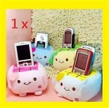 New Cartoon Holder Seat Stand Tofu Plush New Mobile Cell Phone Block Protect