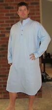 "Nightshirt/Sleep  Men's Long Sleeves 100% Cotton - Perfect Price ""Made in USA"""