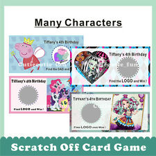 Personalised Scratch Off Card MONSTER EVER AFTER HIGH The Little Pony PEPPA PIG
