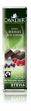 CAVALIER SUGAR FREE STEVIA 42g.BELGIAN CHOCOLATE BARS DIABETIC LOW CARB INULIN