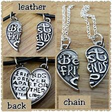 best friend neclace pendant set on chain or leather cord