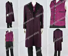Who By Doctor Costume The 11th Dr Costume Purple Trench Coat Vest Nice And Warm