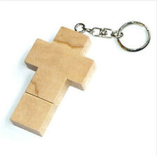 New 4GB-32GB Wooden Cross Model USB2.0 Flash Memory stick Pen Drive U disk