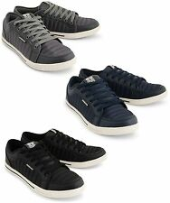 Crosshatch New Quilted Trainers Men's Fashion Shoes Grey Navy Black Plimsolls