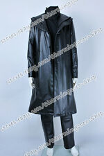Star Trek Cosplay Into Darkness Khan Costume Black Leather Trench Coat Well Made