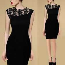Sexy Women Ladies Lace Stretch Cocktail Evening Party Bodycon Pencil Skirt Dress