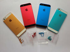 Colorful Replacement Metal Back Battery Housing Cover Hard Case For iPhon 5s