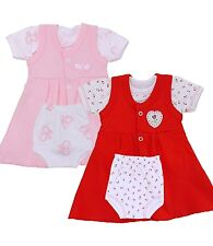 BabyPrem Preemie Girls Baby Clothes Dress Knickers T-Shirt Outfit Set Red / Pink