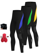 Mens Cycling Tights Winter Thermal Cold Wear Padded Legging Cycling Trouser