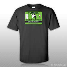 Florida Ghost Hunting Permit T-Shirt Tee Shirt Free Sticker Paranormal Hunter FL